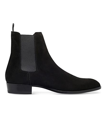 SAINT LAURENT Hedi suede Chelsea boots (Black