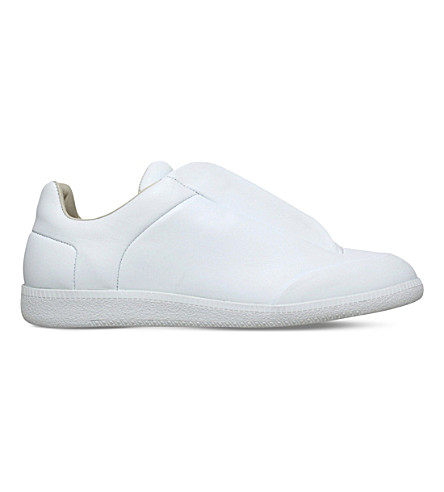 MAISON MARGIELA Future low-top leather trainers (White