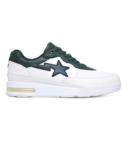 A BATHING APE Road Sta leather trainers (White
