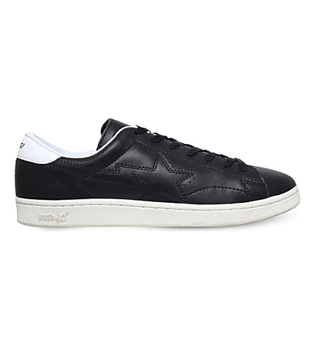 A BATHING APE Morning Sta leather trainers (Black