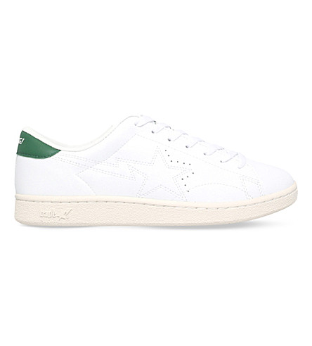 A BATHING APE Morning Star leather trainers (White
