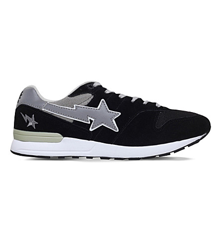 A BATHING APE Bape sta five running trainers (Black
