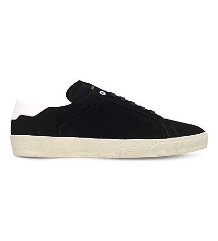 SAINT LAURENT Court Classic suede sneakers (Black