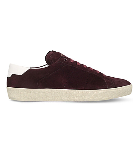 SAINT LAURENT Court Classic suede trainers (Wine