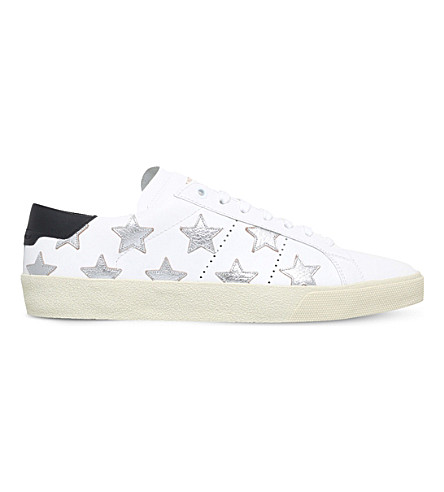 SAINT LAURENT Star California leather trainers (Silver