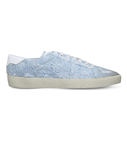 SAINT LAURENT Star California denim trainers (Pale+blue