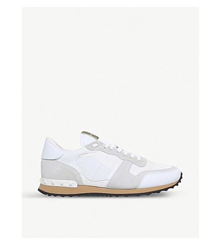 VALENTINO Garavani Rockrunner suede sneakers (White