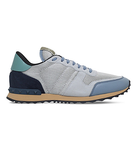VALENTINO Garavani Rockrunner suede trainers (Grey/light