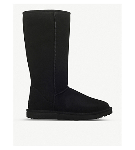 UGG Classic ll Tall sheepskin and suede boots (Black