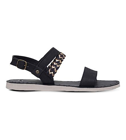 UGG Elin leather and jute sandals (Black