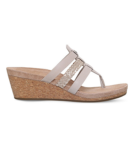 UGG Maddie strappy leather wedge sandals