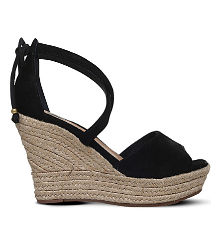 UGG Reagan leather wedge sandals