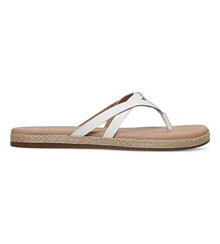 UGG Annice leather espadrille sandals (White