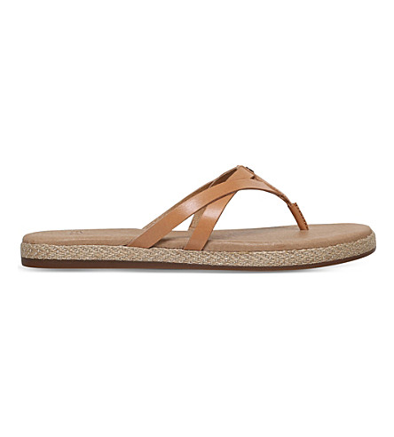 UGG Annice leather espadrille sandals (Tan