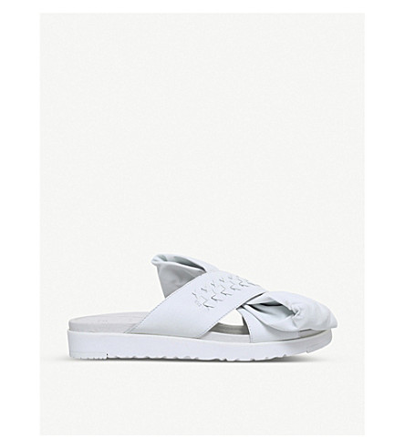 UGG UGG x PREEN Raven bow-detail leather sandals (White