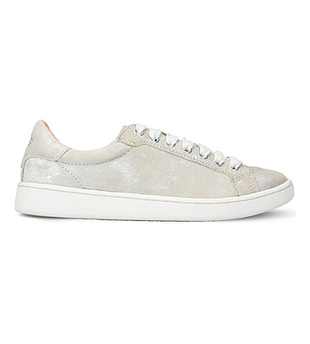 UGG Milo Stardust metallic-suede trainers (Silver