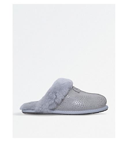 UGG Scuffette II Glitzy suede slippers (Silver
