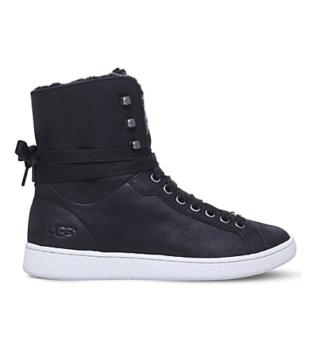 UGG Starlyn leather high-top trainers (Black