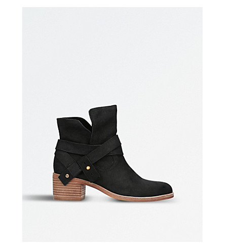 UGG Elora nubuck-leather ankle boots (Black