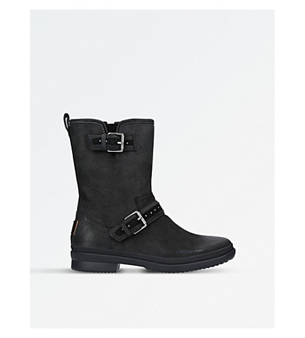 UGG Jenise leather rain boots (Black