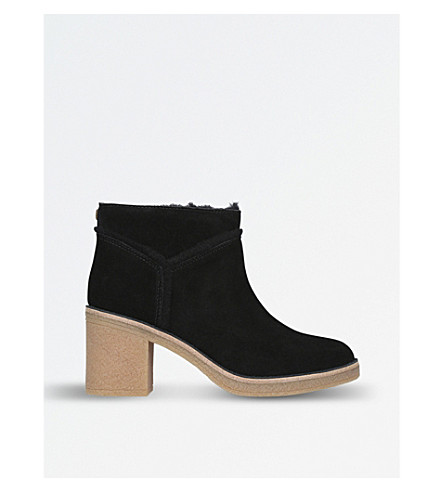 UGGKasen 绒面革踝靴 (黑色