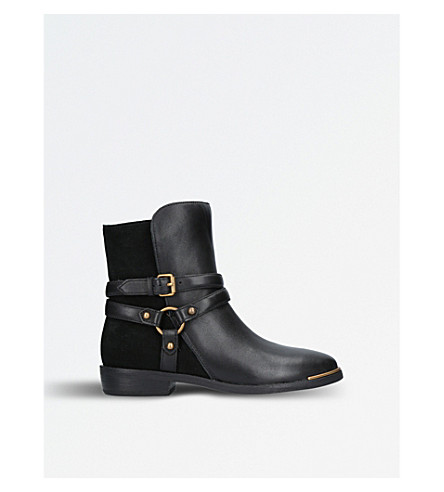 UGG Kelby leather and suede ankle boots (Black