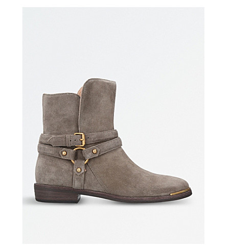 UGG Kelby leather and suede ankle boots (Grey/dark