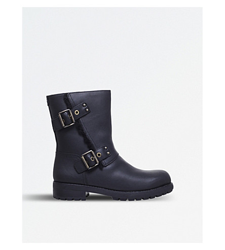 UGG Niels leather biker boots (Black