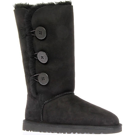 UGG Bailey Button Triplet sheepskin boots (Black