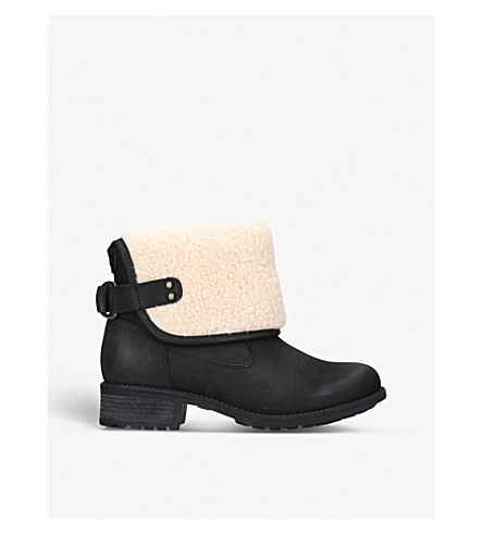 UGG Aldon wool and leather boots (Black
