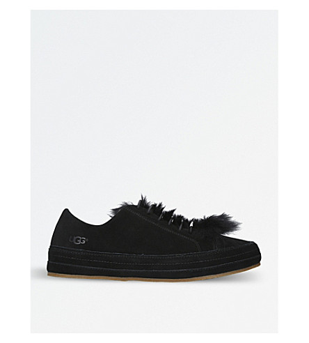 UGG Blake suede and sheepskin trainers (Black