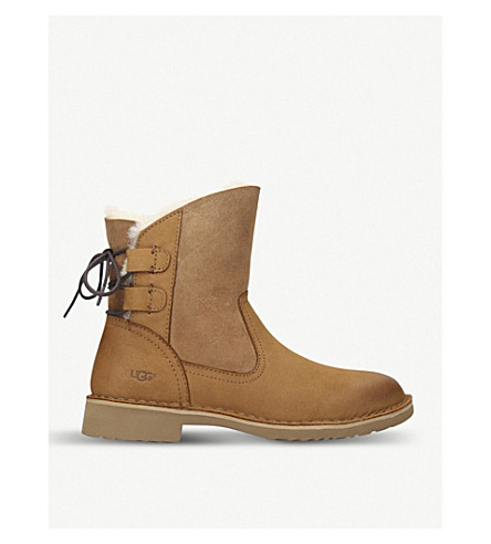 UGG Naiyah nubuck and sheepskin boots (Brown