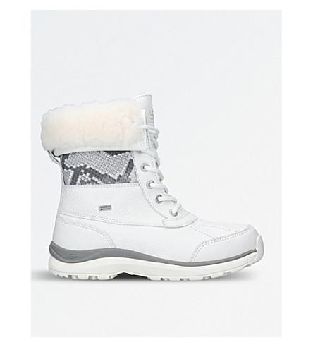 UGG Adirondeck III leather and wool-lined boots (White