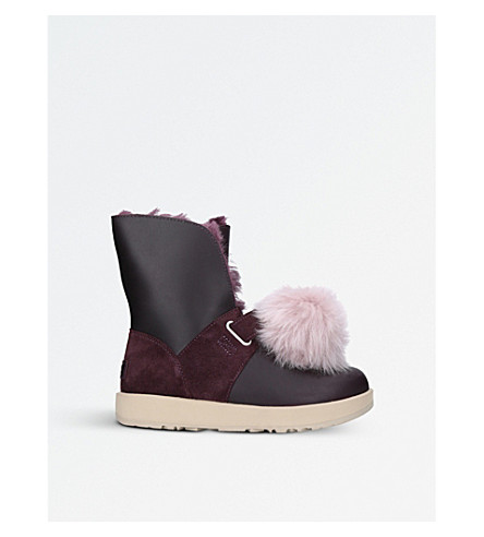 UGG Isley waterproof leather pom pom boots (Other