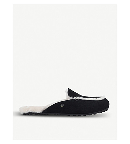 UGG Lane Slip-On Suede Loafers (Black