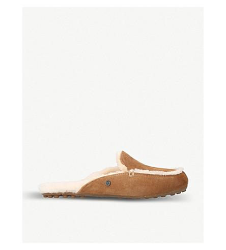 UGG Lane Slip-On Suede Loafers (Brown