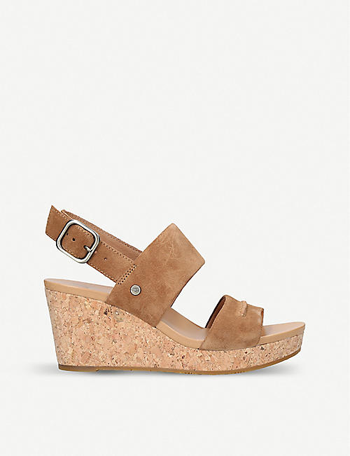 UGG Elena II leather wedge sandals
