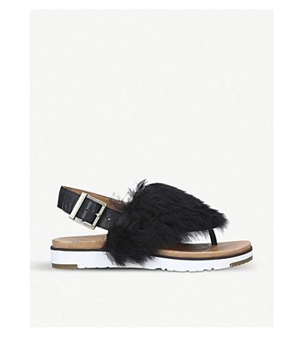 UGG Holly sheepskin sandals (Black