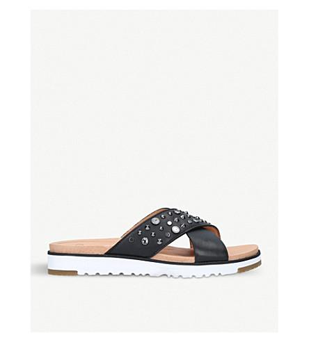 UGG Kari studded leather sandals (Black