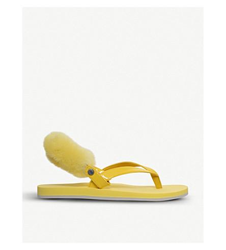 UGG Laa Laa sheepskin back strap (Yellow