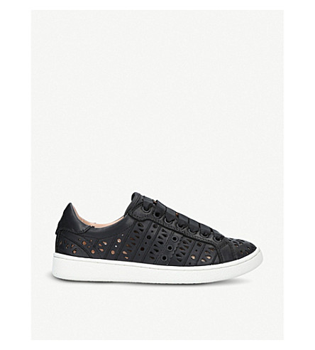 UGG Milo perforated leather trainers (Black