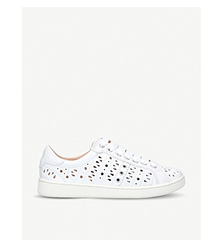 UGG Milo perforated leather trainers (White