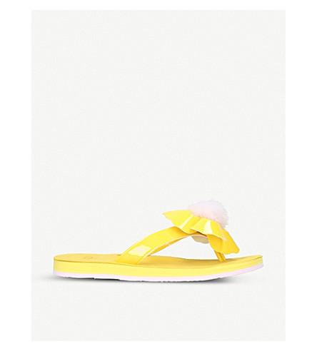 UGG Poppy patent leather flip-flops (Yellow