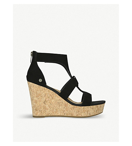 UGG Whitney suede platforms (Black