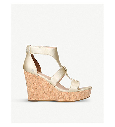 UGG Whitney leather platforms (Gold