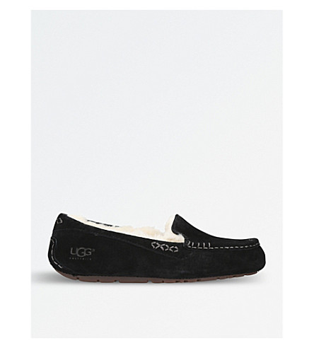 UGG Ansley moccasin sheepskin slippers (Black
