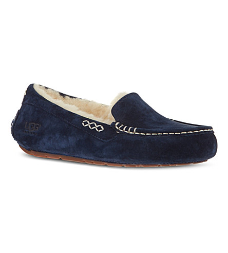 UGG Ansley suede slippers (Navy