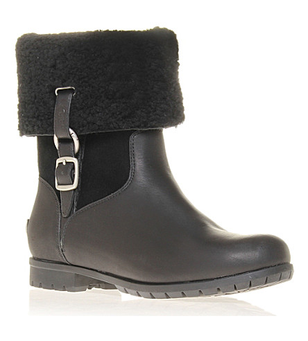 UGG Bellvue III leather ankle boots (Black