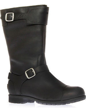 UGG Gershwin sheepskin-lined leather boots