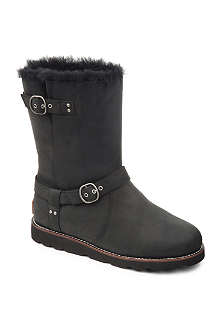 UGG Noira sheepskin-lined leather boots